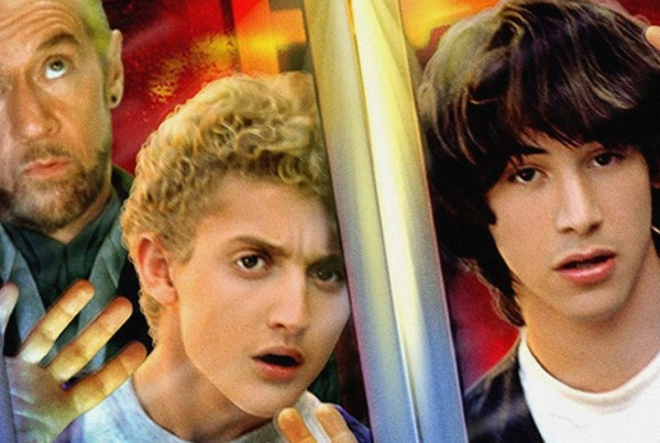 Alex Winter Bill and Ted with George Carlin