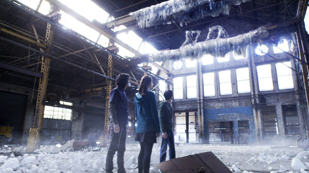 special effects shot in the warehouse on the set of Ben 10