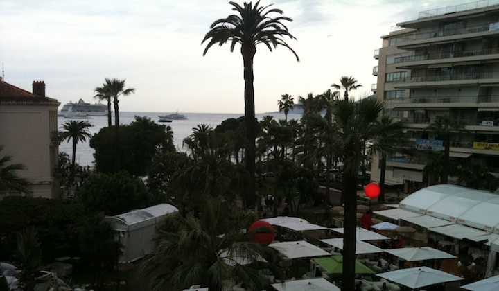 Alex Winter's view out a hotel window at the Cannes Festival