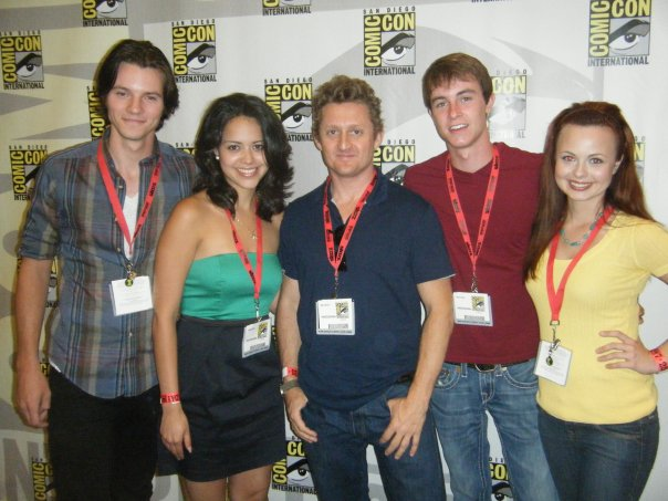 director Alex Winter and cast at ComicCon for panel on Ben 10 Alien Swarm
