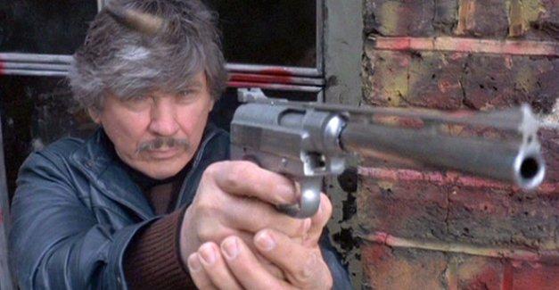 Charles Bronson is a vigilante with a long gun in Death Wish 3