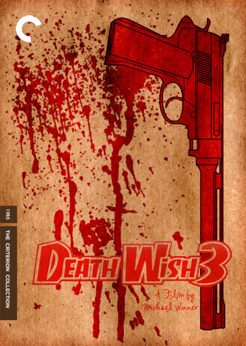 Death Wish 3 movie poster as imagined for Criterion Collection