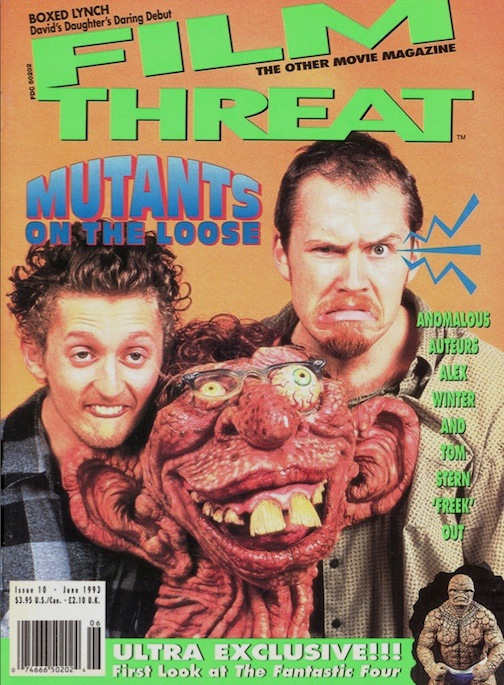 Film Threat cover Mutants on the Loose: Anomalous Auteurs Alex Winter and Tom Stern Freek Out