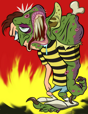 Ricky Coogan cartoon from the movie Freaked (fan art)