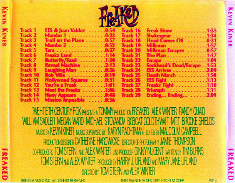 Freaked Soundtrack back cover