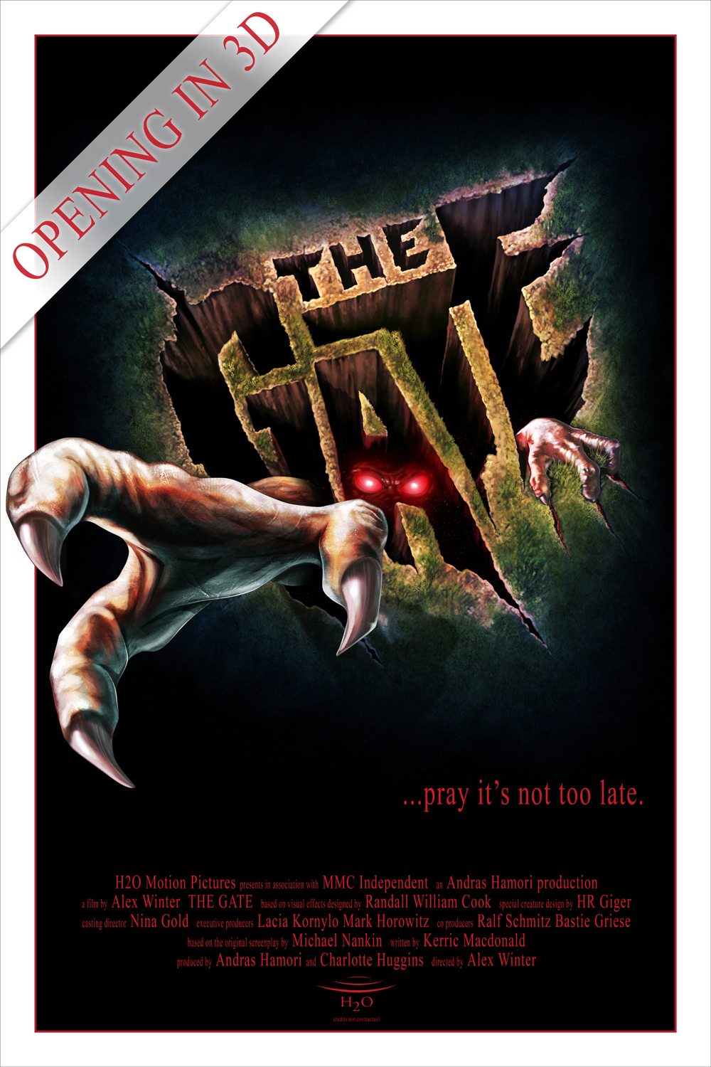 Alex Winter's The Gate 3D movie poster ...pray it's not too late